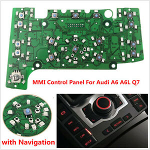 Details about Multimedia MMI Control Panel Circuit Board w/ Navigation E380  for A6 A6L Q7
