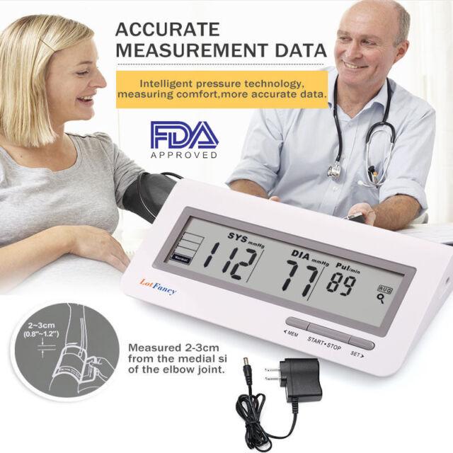 Auto Digital Arm Blood Pressure BP Cuff Monitor Gauge Machine Test Power Adapter