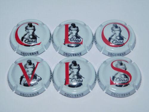 Clovis Nouvelle Série de 6 Capsules de champagne GUERLET DEGUERNE