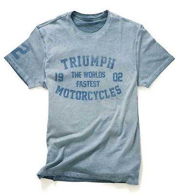 GENUINE TRIUMPH MOTORCYCLE T-SHIRT REX VINTAGE BONNEVILLE TEE **FREE P/&P**
