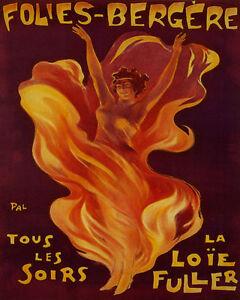 Pal Dancer Loie Fuller Folies Bergere Vintage Advert Canvas Art Print Poster