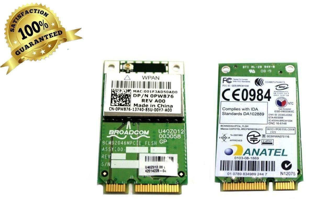 Lot of 10 Dell Wireless 370 Bluetooth Card WPAN For Dell Latitude E5400 PW876