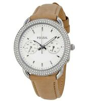 NWT Fossil Women's ES4053 Tailor Multi-Function White Dial Leather Watch $135