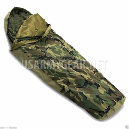 US Army Military Woodland Camo GTX GORETEX Sleeping Bag BIVY COVER by GI Tennier