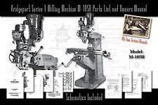 Bridgeport Series 1 Milling Machine M 105h Service Manual Parts Lists Schematics