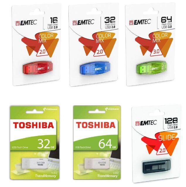 Chiavetta USB Pendrive 8 16 32 64 128 gb Penna Flash Memory Memoria Dati Memoria