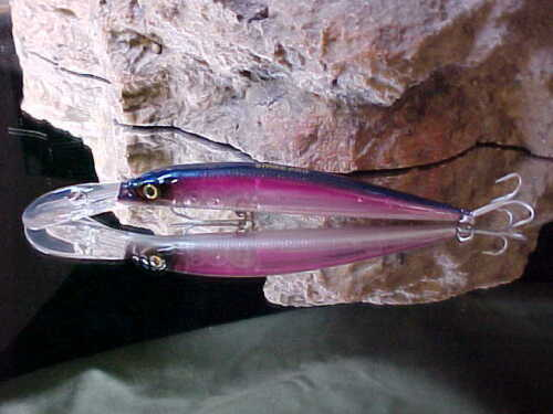 "Strike Pro 4 3//8/"" Floating ALPHA Deep Diver Minnow JL-062#906G in GRAPE GHOST"