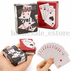 Small-Mini-Miniature-Travel-Pocket-Playing-Poker-Cards-Deck-Tiny-Little-Coated