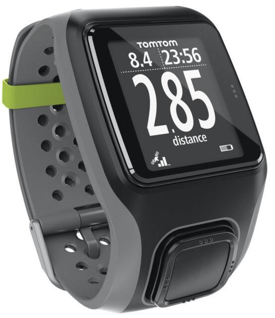 TomTom Multisport GPS watch Run, Bike, Swim SportWatch Refurb OVP grey