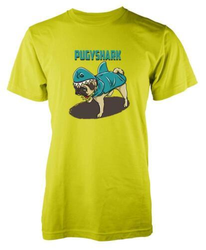 Pugshark Dog Pug Shark Mashup Adult T Shirt