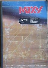 Moxy Muldenkipper MT 36  Bedienungs- und Wartungsanleitung