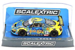 Scalextric-034-Rum-Bum-034-Audi-R8-LMS-Ultra-DPR-W-Lights-1-32-Scale-Slot-Car-C3854