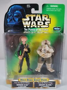 Star Wars 3.75 Power of the Force Max Rebo Band Pairs - Barquin / Droopy