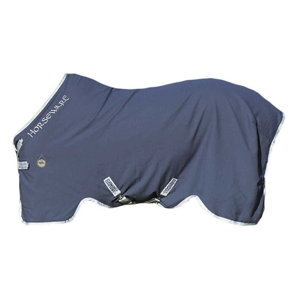 Horseware Rambo Helix Stable Sheet Disc Front Closure - Navy Silber, 78
