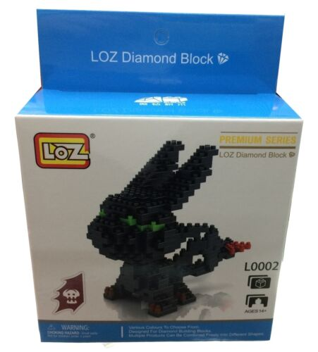 Night Fury How To Train Your Dragon Loz Building Blocks Toy Black Toothess Lot