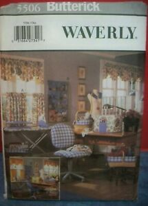 Butterick Pattern 5506 Waverly Sewing Room Accessories 2001 Uncut USA