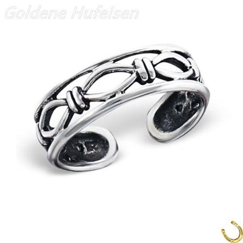 Anillo de los pies alambre de púas 925 real plata zehring idea de regalo//40324b