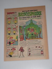 1968 Charlie Chocks Vitamins BATHYSPHERE PLAY TENT Promotional BEANY Comic Page