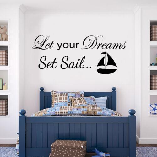 Laissez vos rêves set sail sailor nautical wall sticker decal vinyl art transfert