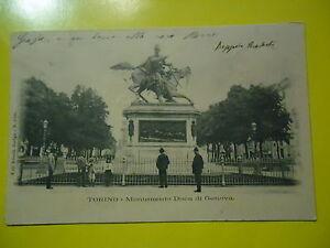 Torino-Monument-Duc-de-Genes-Carte-Postale-Animee-Neuve-1901-avec-2-c-Karim