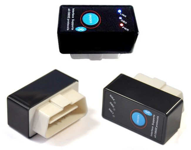 ELM 327 Bluetooth OBD2 Scanner with power button