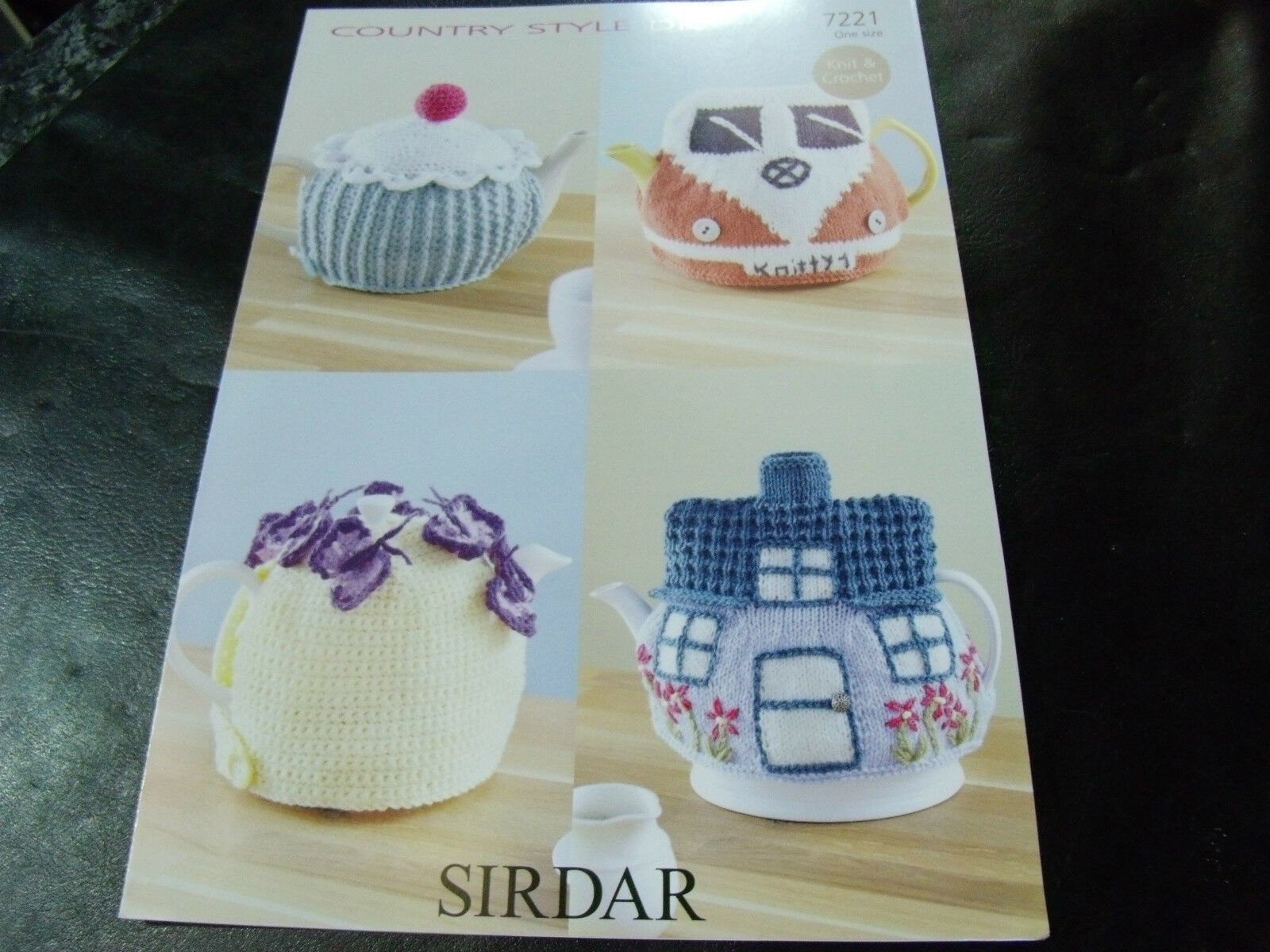 Teacosy Campervan Cottage Cupcake Knitting Crochet Pattern DK Yarn ...