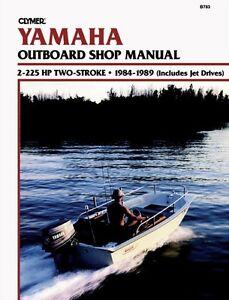 clymer yamaha pro 50 two stroke outboard repair shop service manual rh ebay com yamaha 50 hp outboard owners manual yamaha 50 hp outboard parts