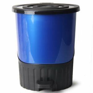 14Litre-Medium-Rainbow-Blue-H-33cm-Useful-Office-Dustbin-Recycle-Waste-Disposal
