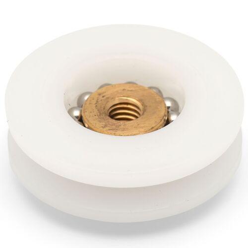 4 x Shower Door Rollers//Runners//Wheels 24mm in Diameter Grooved C3