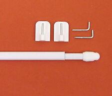 1 x Scheibenstange weiß 40 - 60cm + 2 Klebehaken Vitragestangen Vitragestange