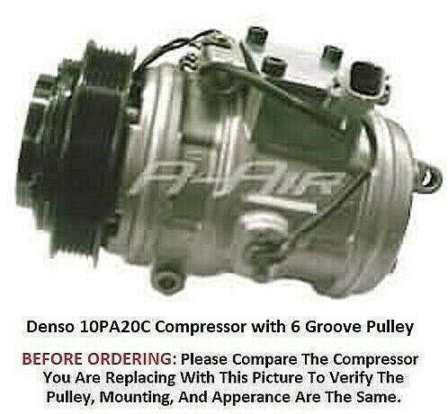 Lexus SC400 4.0L  1992-2000   OEM Denso 10PA20C AC Compressor   6 Grooves