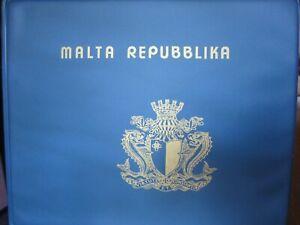 RACCOLTA-Francobolli-Repubblica-di-MALTA-1975-1995