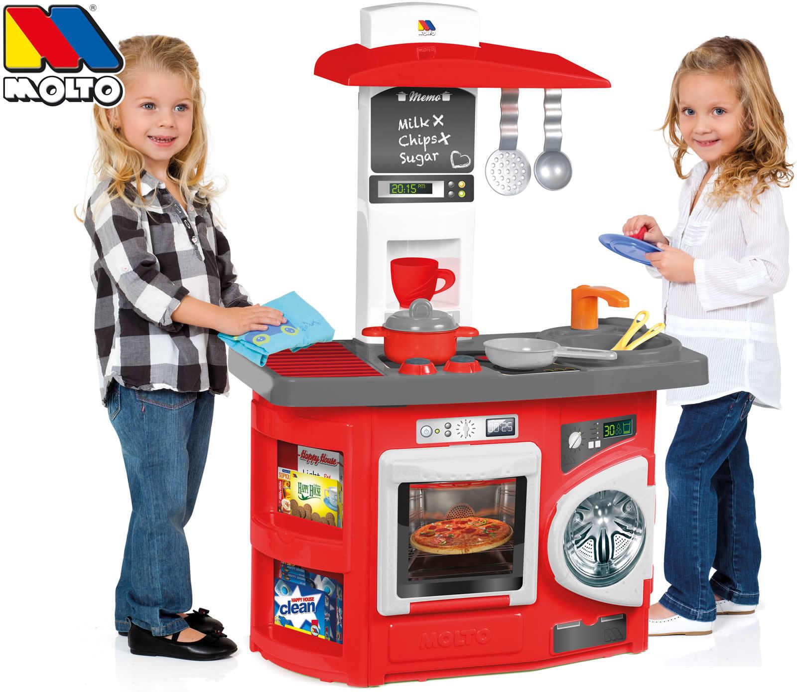 Molto Spielküche Kinderküche Kitchen 12-tlg. mit 12-tlg. Kitchen Zubehör 58accd