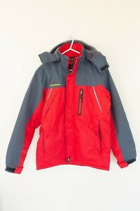 Outdoor-Mens-Jacket-Size-M-Red-Fleece-Lined-Warm-Snow-Snowboarding-Outdoor