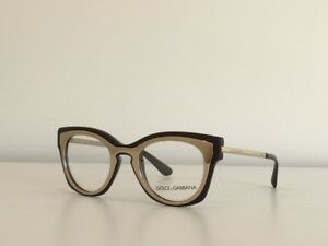 26dee164cb7a8 1 Dolce   Gabbana DG 5020 3042 Cat Eye Brown Gold Eyeglasses Frame ...