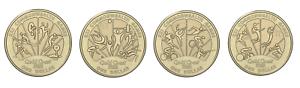2018 XXI Commonwealth Games 4x $1 Dollar Coin Set UNC