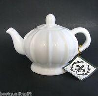 Porcellana De Paris White Porcelain Coffee,tea Pot-4 Cups,32 Oz.