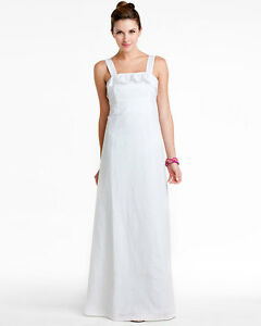 Image Is Loading Lilly Pulitzer Isadora Resort White Eyelet Gown Wedding