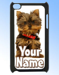 YORKIE-DOG-PUPPY-IPOD-TOUCH-4-PERSONALISED-CASE-REAR-COVER-GREAT-NAMED-GIFT