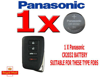 Lexus 2013–2017 ES350 GS350 GS450h LS430 Battery Sony CR2032 for Remote Key FOB