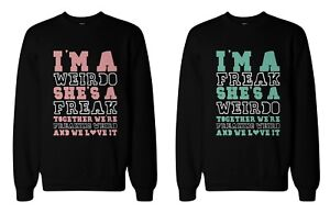 Funny Bff Sweaters Freak And Weirdo Best Friends Matching