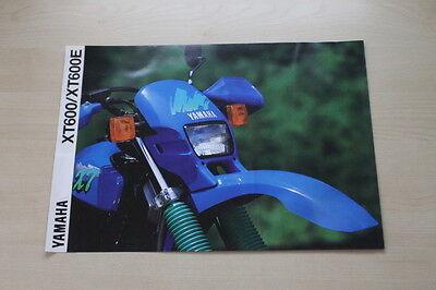 100% Wahr 170803) Yamaha Xt 600 Xt 600 E Prospekt 1991 Ausgezeichnet Im Kisseneffekt