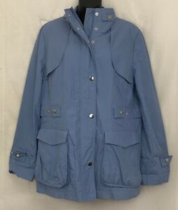 Pendleton Womens Lightweight Jacket Zip Snap Button Coat Sky Blue P70220 Size L