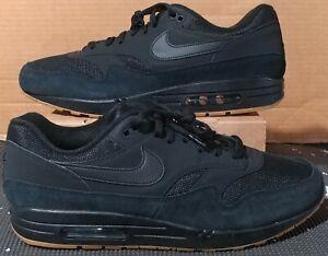 NIKE AIR MAX 1 Premium Shoes Black Gum Nubuck AH8145 007