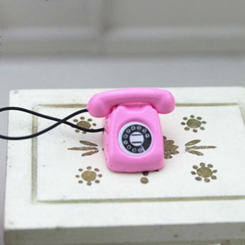 Dollhouse miniature scene model dollhouse accessories mini fixed telephone Fad