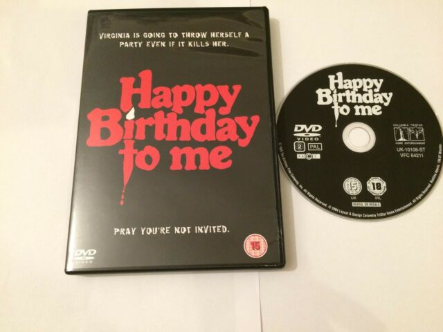 Happy Birthday To Me (DVD, 2004) Great Condition Horror
