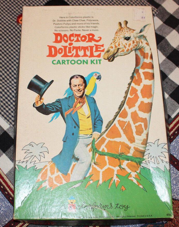 VINTAGE 1967 DOCTOR DR DOLITTLE COLORFORMS BOX SET COMPLETE W BOOKLET CLEAN NICE