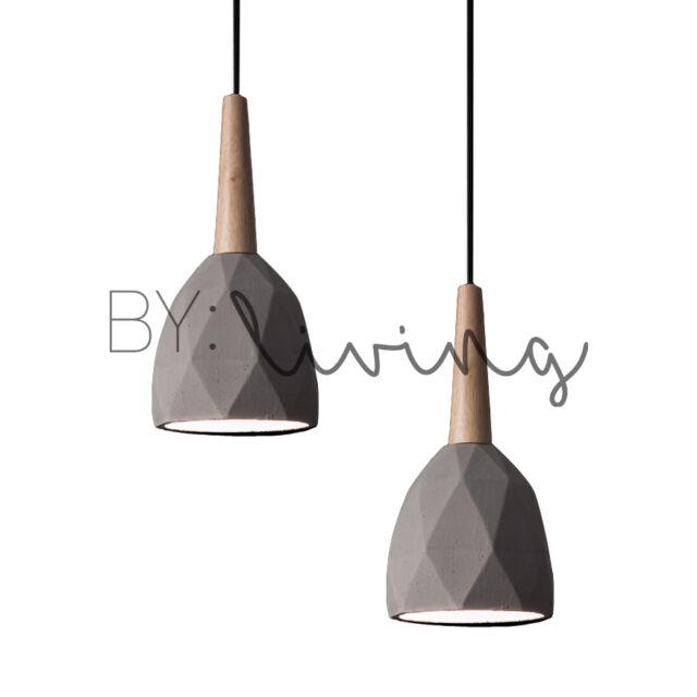 minimal lighting. Modern Contemporary Minimal Wood Timber Diamond Concrete Pendant Light Minimal Lighting