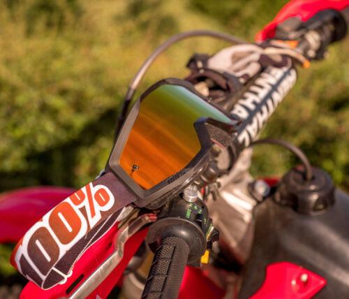 100/% Strata MX Brille verspiegelt  MX Enduro Downhill Mandarin Mountainbike