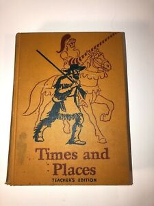 Vintage Times And Places Teachers Edition Book 1940's see pics! Make offer!